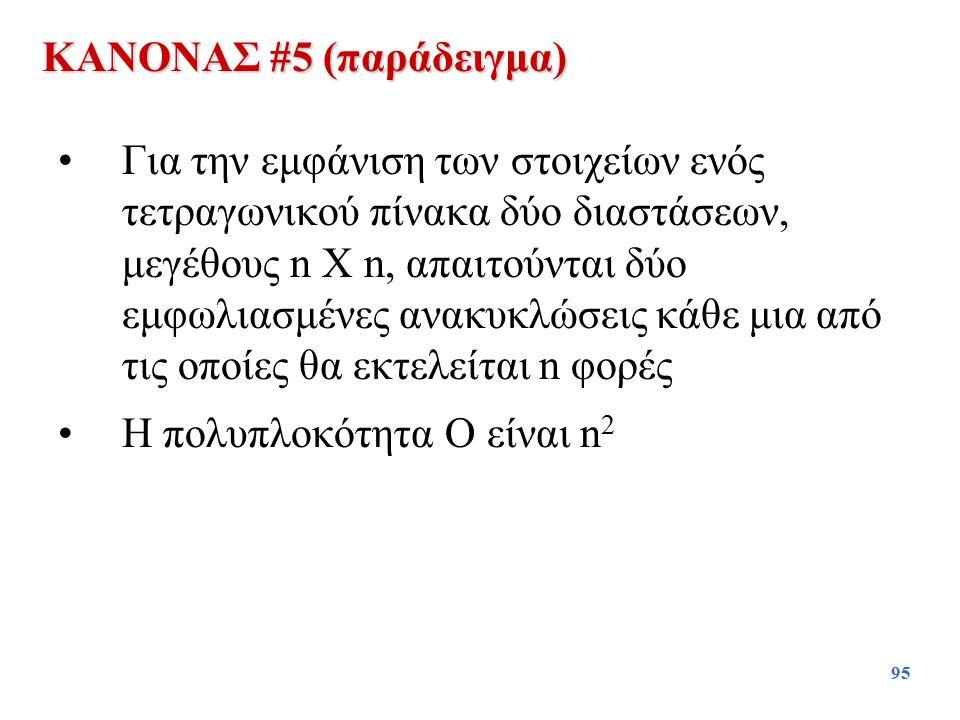 ΚΑΝΟΝΑΣ #5 (παράδειγμα)