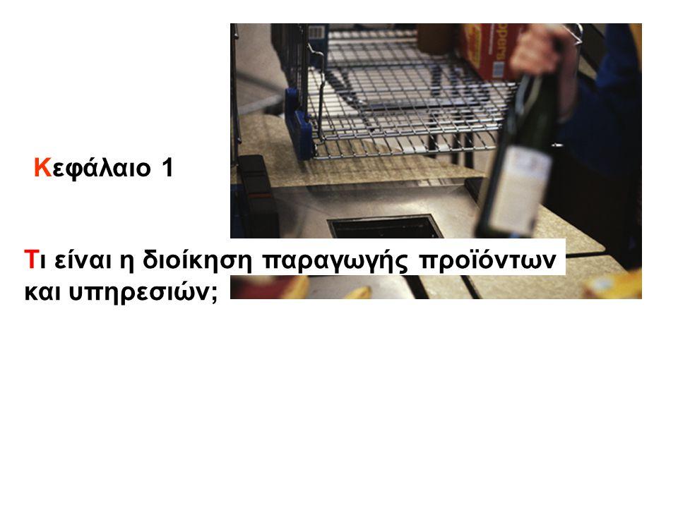 Κεφάλαιο 1 Τι είναι η διοίκηση παραγωγής προϊόντων και υπηρεσιών;