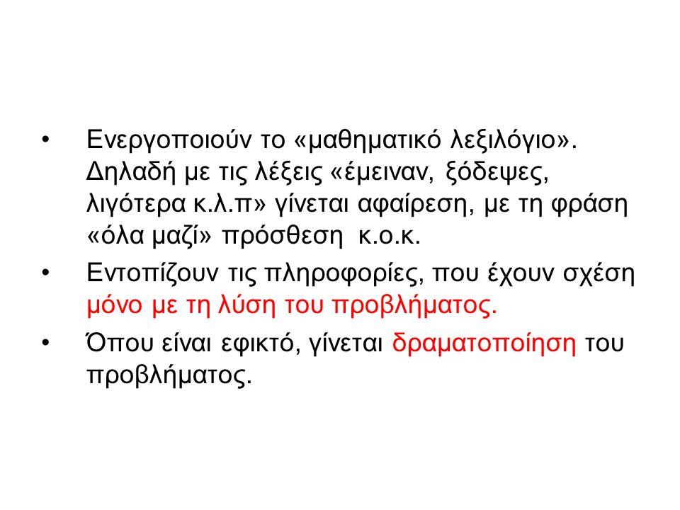 Ενεργοποιούν το «μαθηματικό λεξιλόγιο»