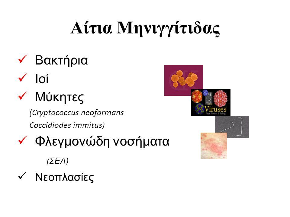 Αίτια Μηνιγγίτιδας Βακτήρια Ιοί Μύκητες Φλεγμονώδη νοσήματα (ΣΕΛ)