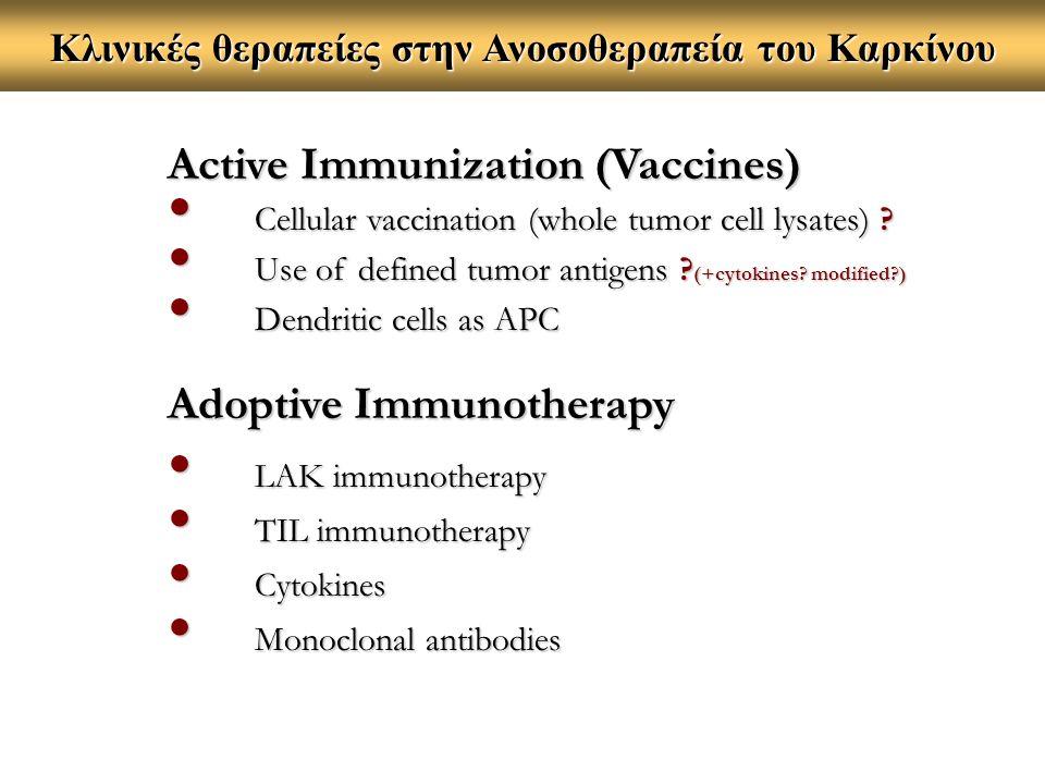 Κλινικές θεραπείες στην Ανοσοθεραπεία του Καρκίνου
