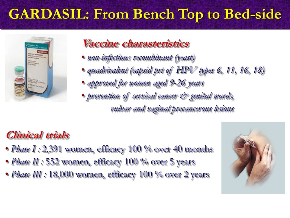 GARDASIL: From Bench Top to Bed-side