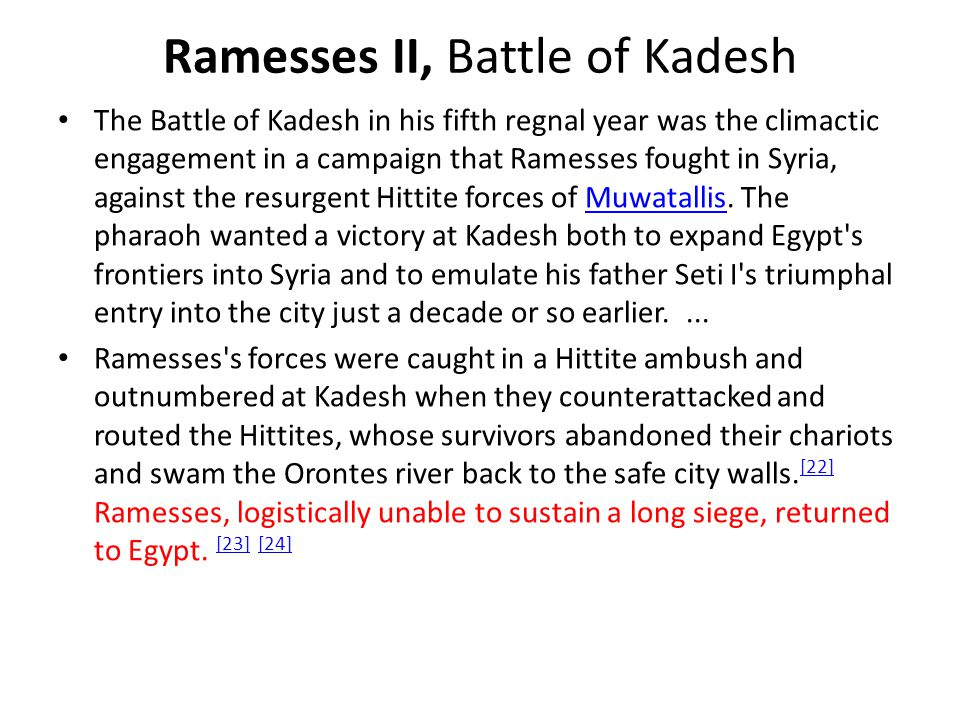 Ramesses II, Battle of Kadesh
