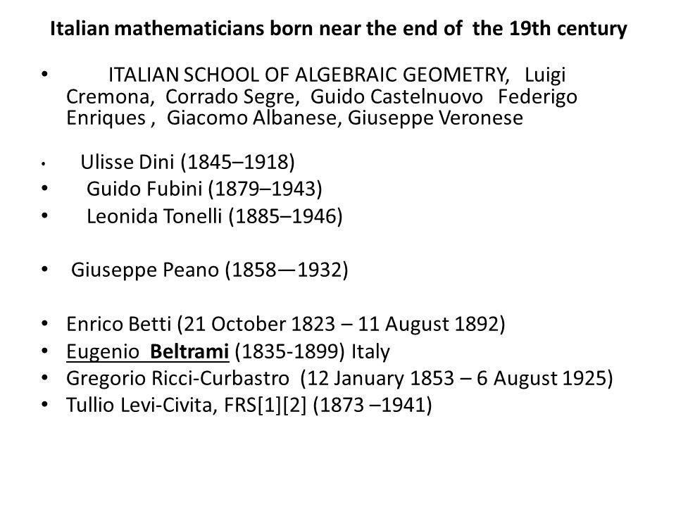 Italian mathematicians born near the end of the 19th century