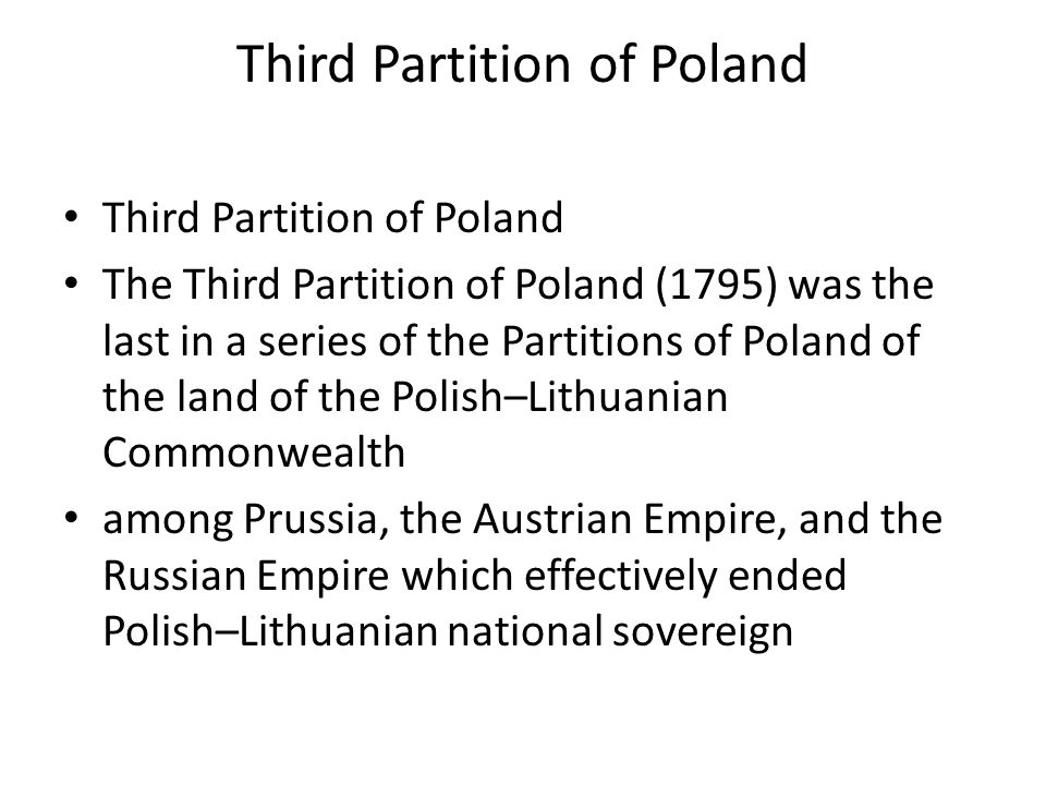 Third Partition of Poland
