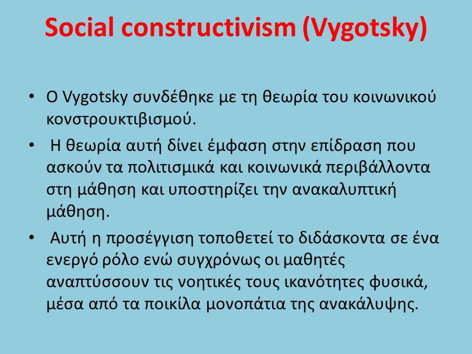 Social constructivism (Vygotsky)