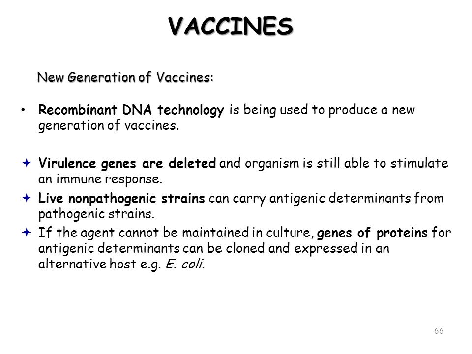 New Generation of Vaccines: