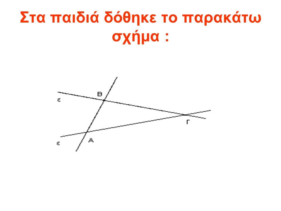 Στα παιδιά δόθηκε το παρακάτω σχήμα :