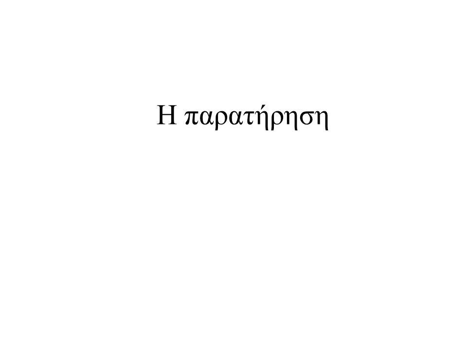 Η παρατήρηση