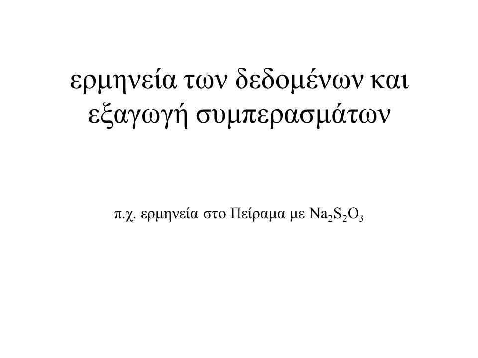 ερμηνεία των δεδομένων και εξαγωγή συμπερασμάτων π. χ