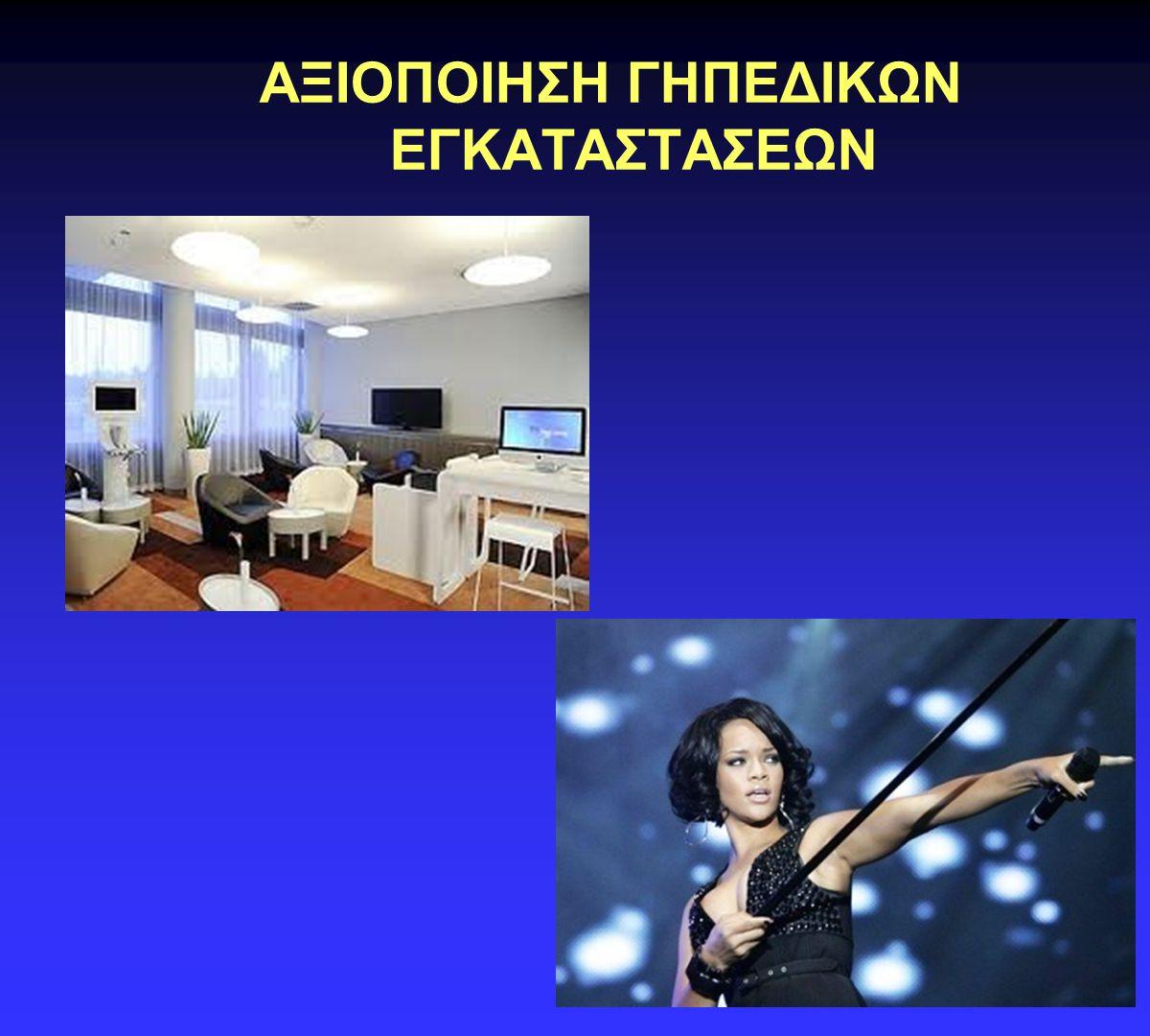 ΑΞΙΟΠΟΙΗΣΗ ΓΗΠΕΔΙΚΩΝ ΕΓΚΑΤΑΣΤΑΣΕΩΝ