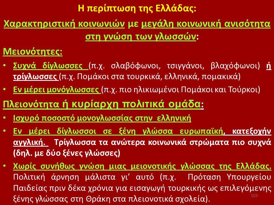 Η περίπτωση της Ελλάδας:
