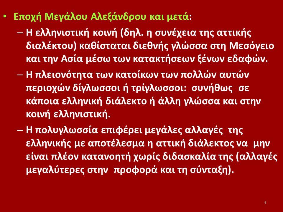 Εποχή Μεγάλου Αλεξάνδρου και μετά: