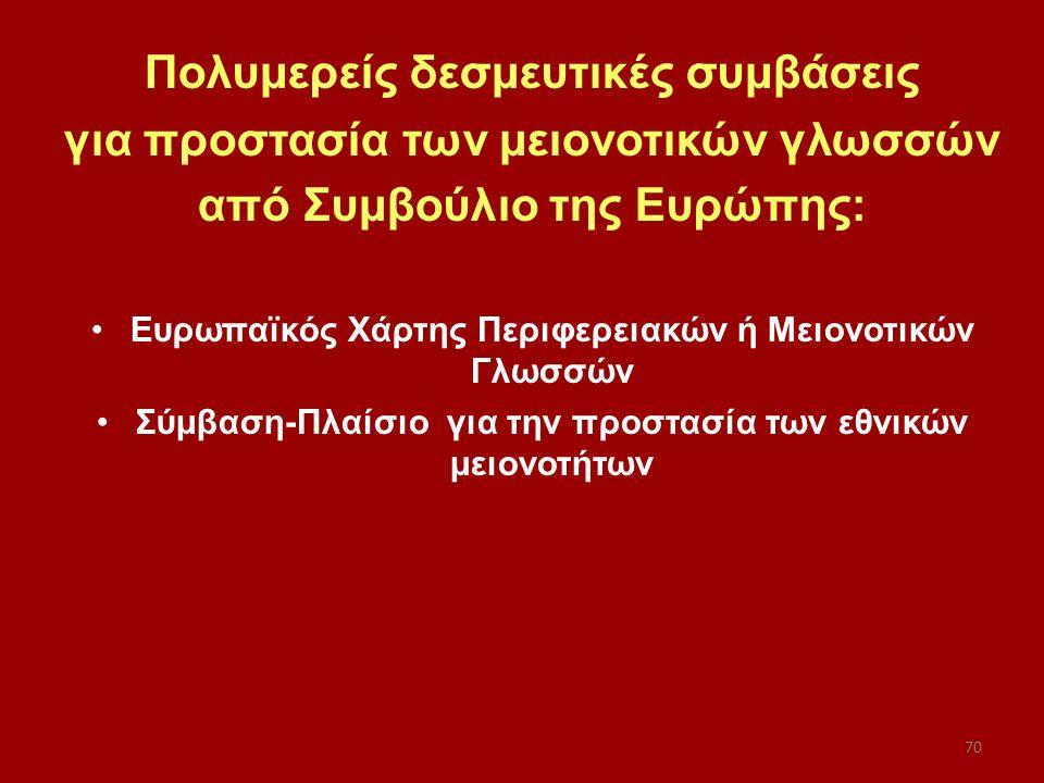 Πολυμερείς δεσμευτικές συμβάσεις για προστασία των μειονοτικών γλωσσών
