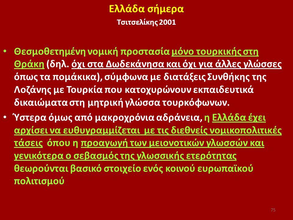Ελλάδα σήμερα Τσιτσελίκης 2001.