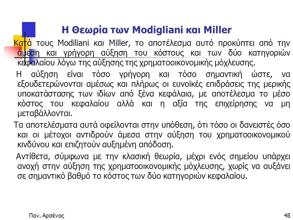 Η Θεωρία των Modigliani και Miller