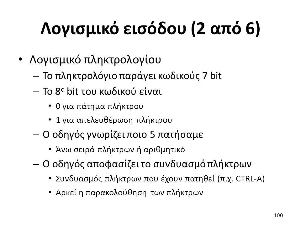 Λογισμικό εισόδου (2 από 6)