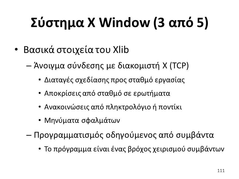 Σύστημα X Window (3 από 5) Βασικά στοιχεία του Xlib