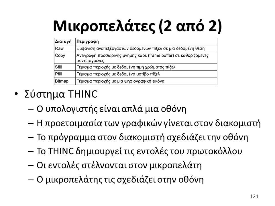 Μικροπελάτες (2 από 2) Σύστημα THINC