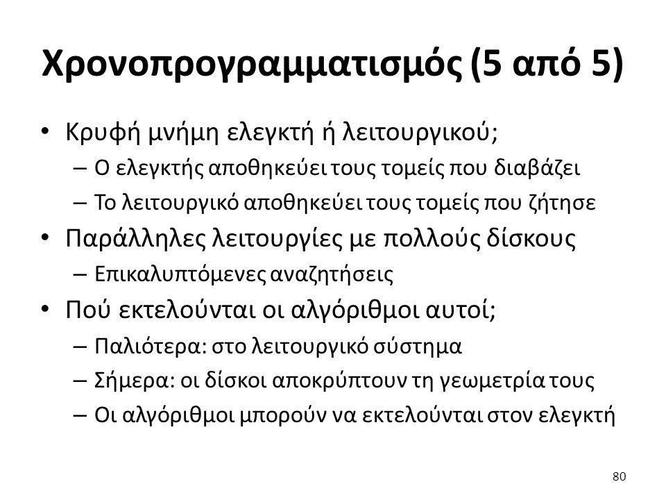 Χρονοπρογραμματισμός (5 από 5)