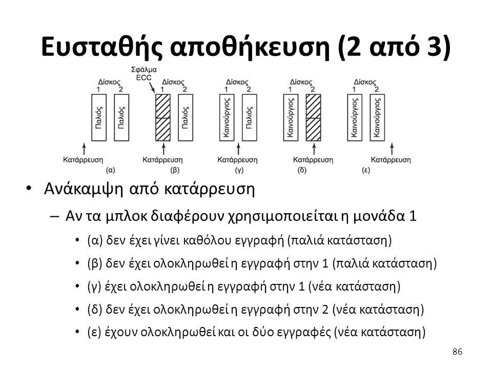 Ευσταθής αποθήκευση (2 από 3)