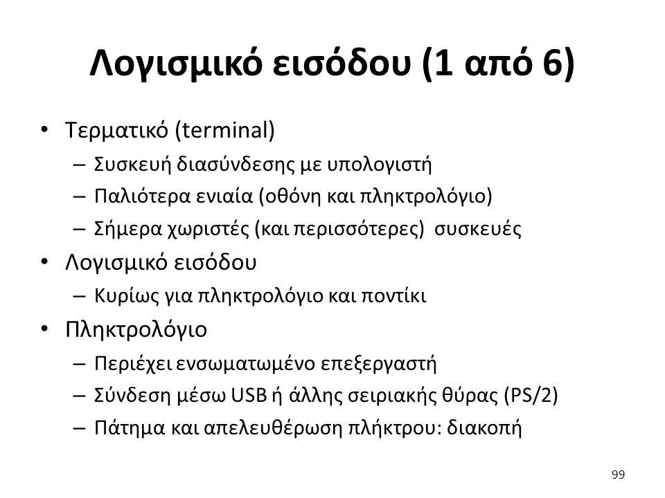 Λογισμικό εισόδου (1 από 6)