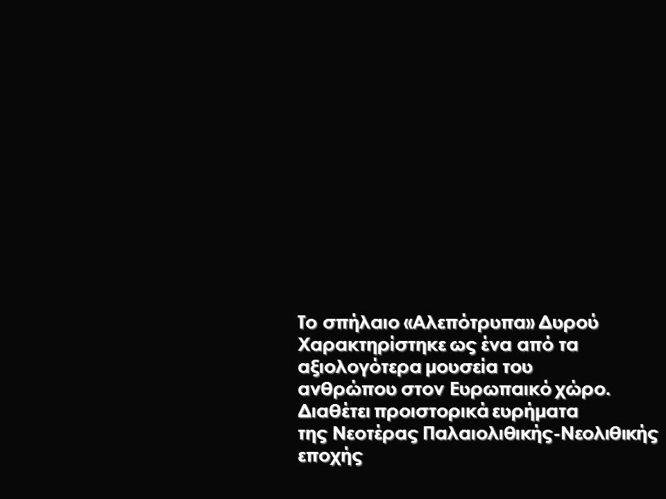 Το σπήλαιο «Αλεπότρυπα» Δυρού