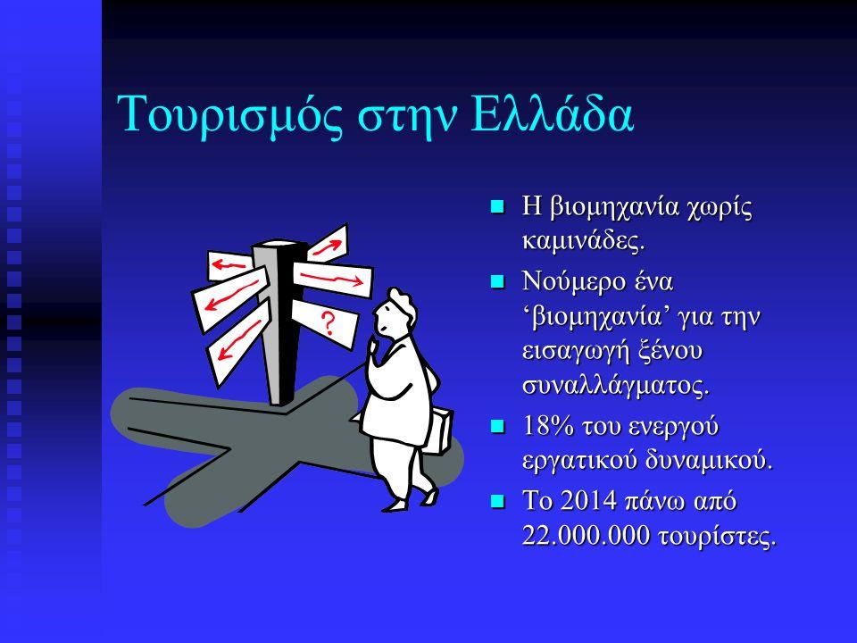 Τουρισμός στην Ελλάδα Η βιομηχανία χωρίς καμινάδες.
