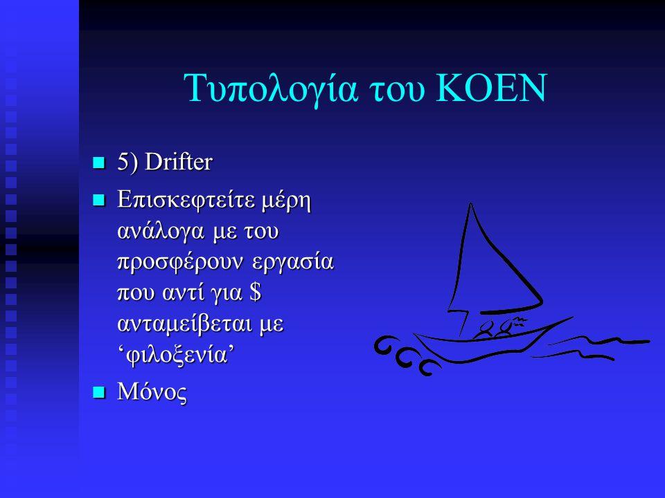 Τυπολογία του ΚΟΕΝ 5) Drifter