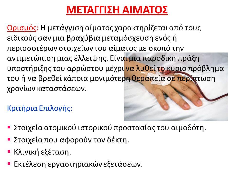 ΜΕΤΑΓΓΙΣΗ ΑΙΜΑΤΟΣ