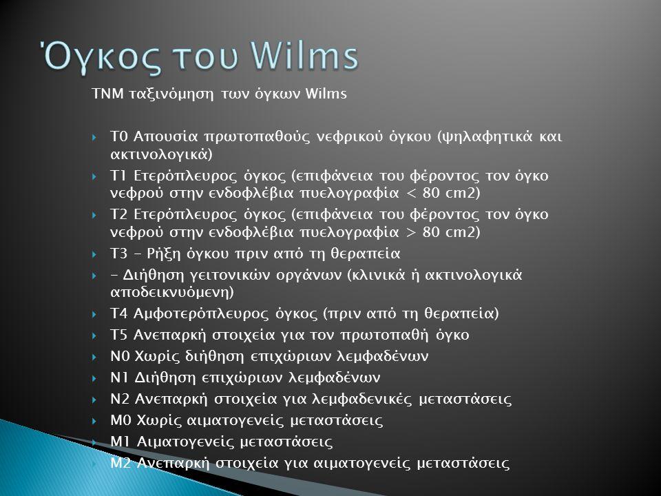 Όγκος του Wilms ΤΝΜ ταξινόμηση των όγκων Wilms
