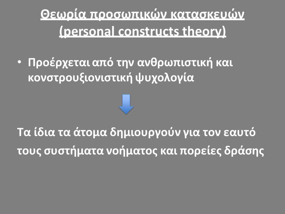 Θεωρία προσωπικών κατασκευών (personal constructs theory)