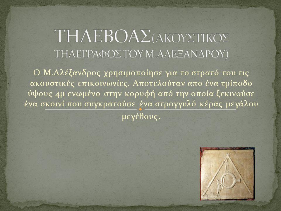 ΤΗΛΕΒΟΑΣ(ΑΚΟΥΣΤΙΚΟΣ ΤΗΛΕΓΡΑΦΟΣ ΤΟΥ Μ.ΑΛΕΞΑΝΔΡΟΥ)