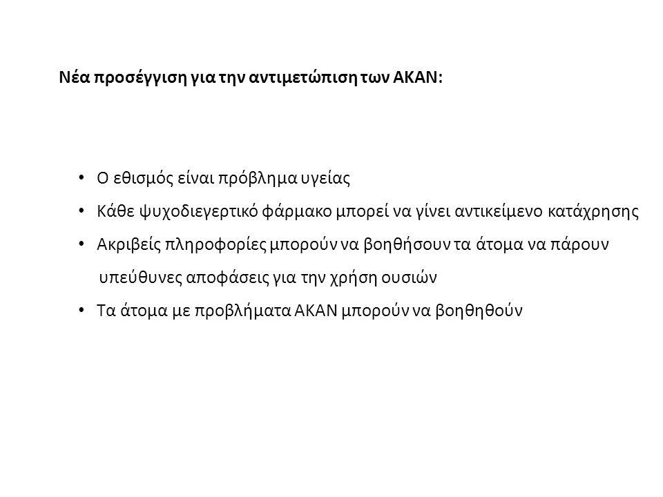 Νέα προσέγγιση για την αντιμετώπιση των ΑΚΑΝ: