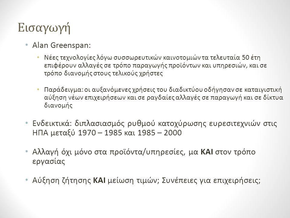 Εισαγωγή Alan Greenspan: