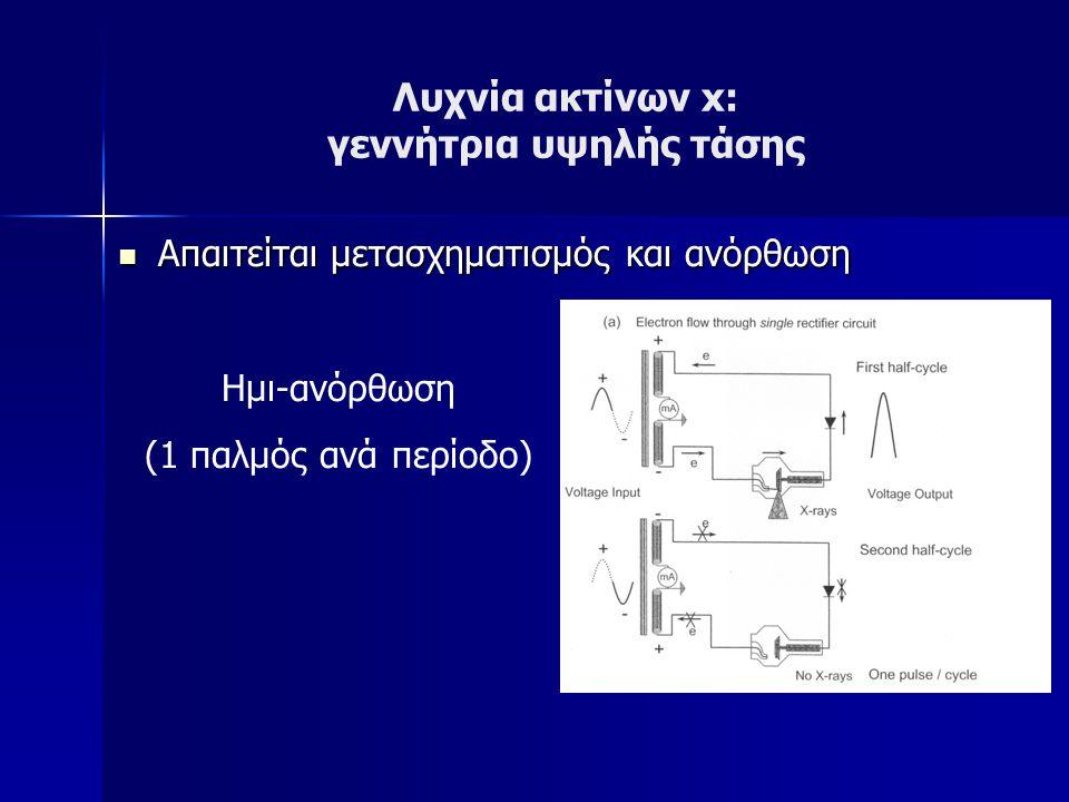 Λυχνία ακτίνων x: γεννήτρια υψηλής τάσης