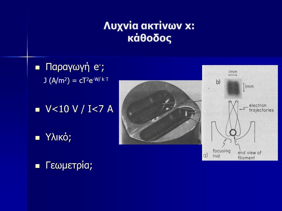 Λυχνία ακτίνων x: κάθοδος