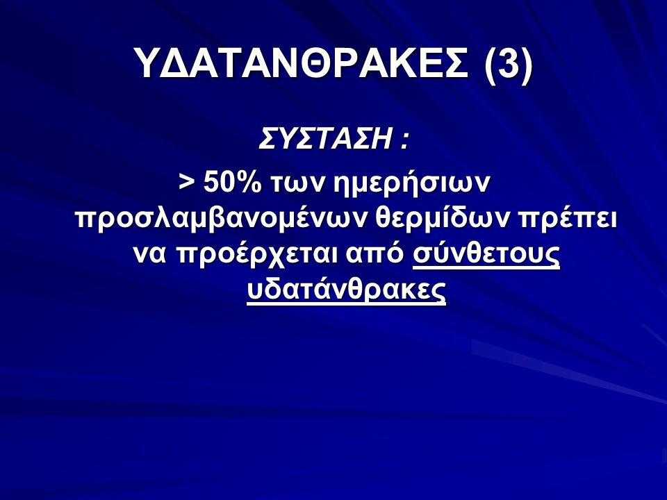 ΥΔΑΤΑΝΘΡΑΚΕΣ (3) ΣΥΣΤΑΣΗ :