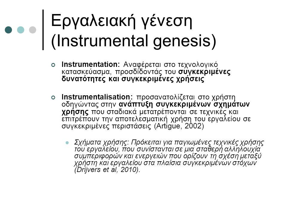 Εργαλειακή γένεση (Instrumental genesis)