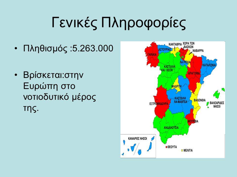 Γενικές Πληροφορίες Πληθισμός :5.263.000