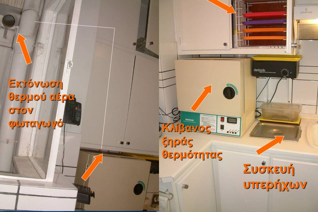 Συσκευή υπερήχων Εκτόνωση θερμού αέρα στον φωταγωγό
