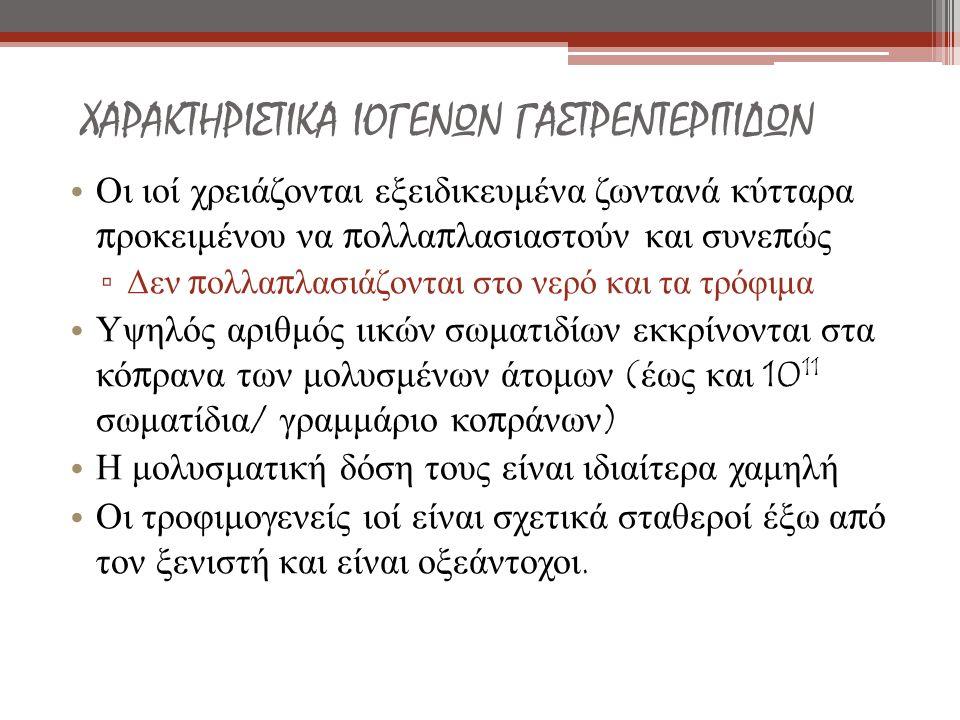 ΧΑΡΑΚΤΗΡΙΣΤΙΚΑ ΙΟΓΕΝΩΝ ΓΑΣΤΡΕΝΤΕΡΙΤΙΔΩΝ