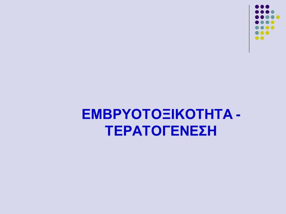 ΕΜΒΡΥΟΤΟΞΙΚΟΤΗΤΑ -ΤΕΡΑΤΟΓΕΝΕΣΗ