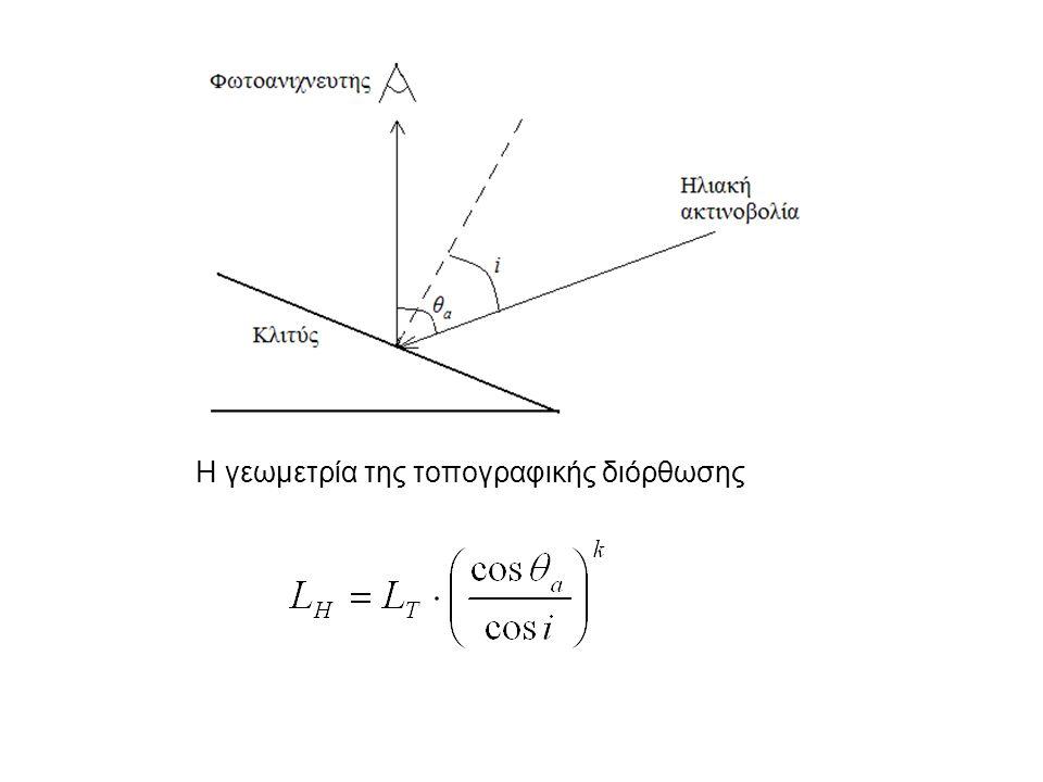 Η γεωμετρία της τοπογραφικής διόρθωσης