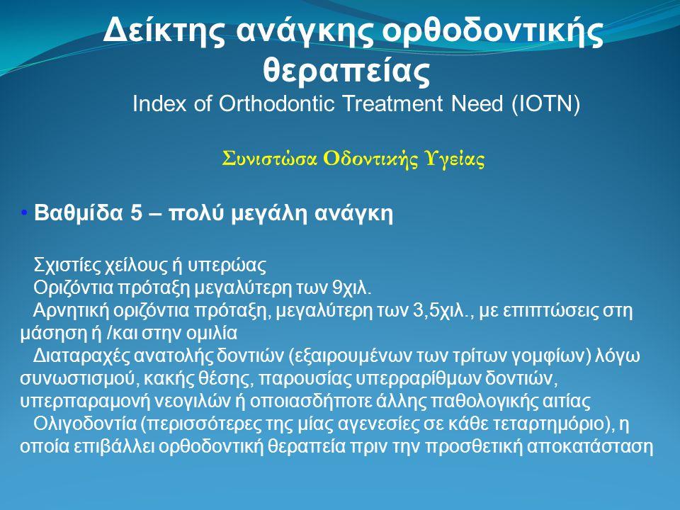 Δείκτης ανάγκης ορθοδοντικής θεραπείας