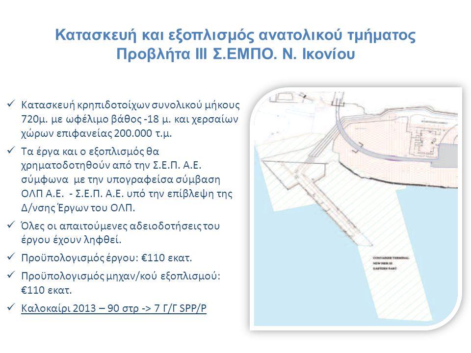 Κατασκευή και εξοπλισμός ανατολικού τμήματος Προβλήτα ΙΙΙ Σ. ΕΜΠΟ. Ν