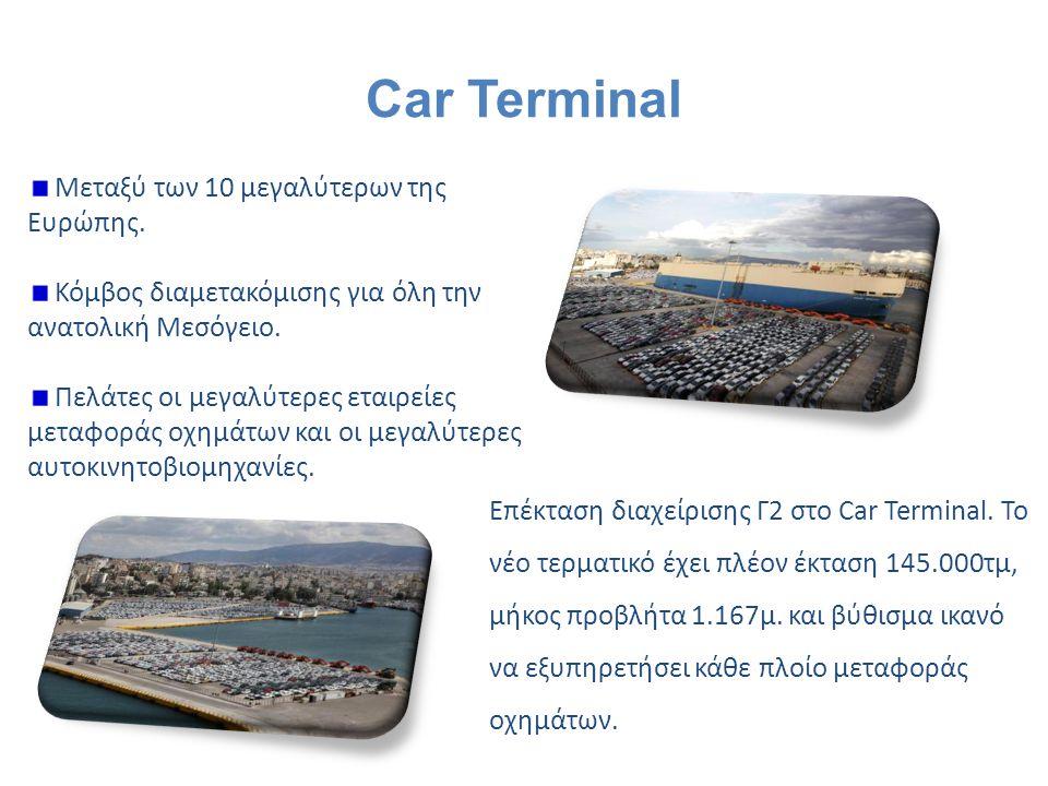 Car Terminal Μεταξύ των 10 μεγαλύτερων της Ευρώπης.