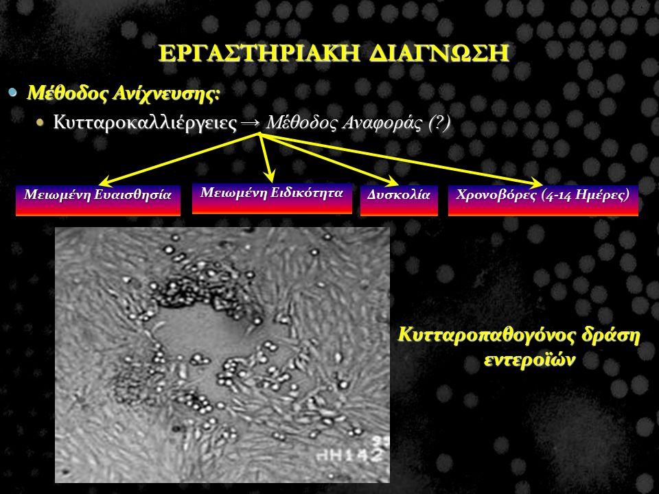 ΕΡΓΑΣΤΗΡΙΑΚΗ ΔΙΑΓΝΩΣΗ Κυτταροπαθογόνος δράση εντεροϊών