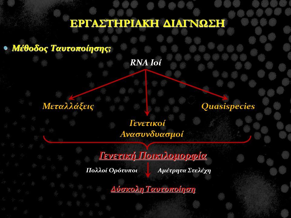 ΕΡΓΑΣΤΗΡΙΑΚΗ ΔΙΑΓΝΩΣΗ Γενετικοί Ανασυνδυασμοί Γενετική Ποικιλομορφία