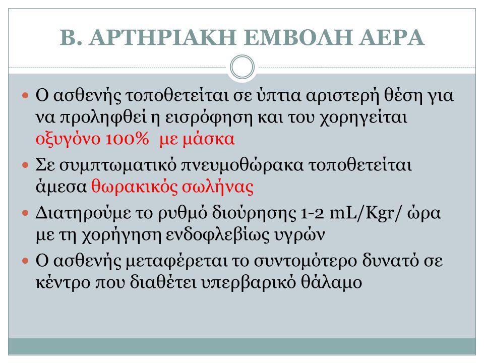 Β. ΑΡΤΗΡΙΑΚΗ ΕΜΒΟΛΗ ΑΕΡA